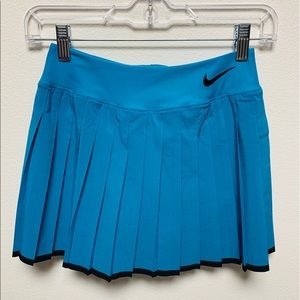 Nike Dri Fit Blue Pleated Tennis Skirt XS